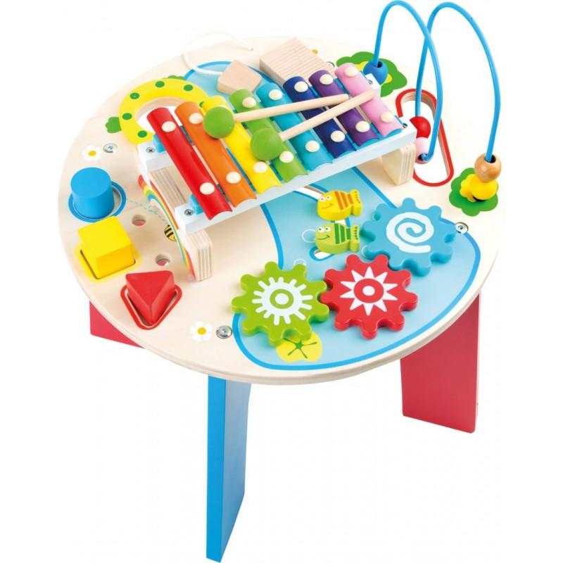 Table de motricité et de musique 2 en 1-Motricité et apprentissage-Jouets de motricité en bois   BambinBois
