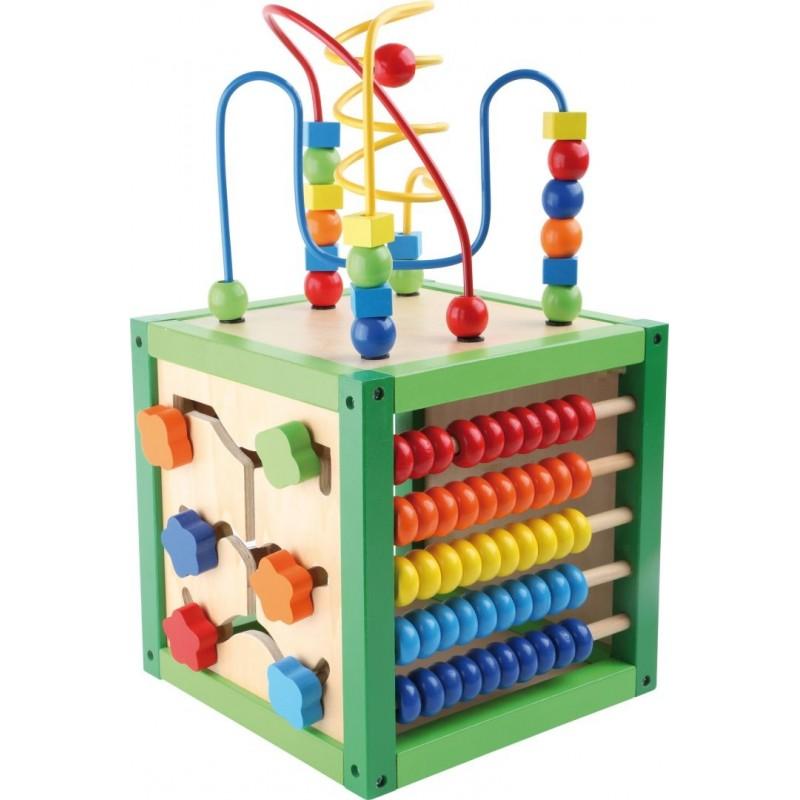 Cube de motricité - Printemps-Motricité et apprentissage-Jouets de motricité en bois | BambinBois