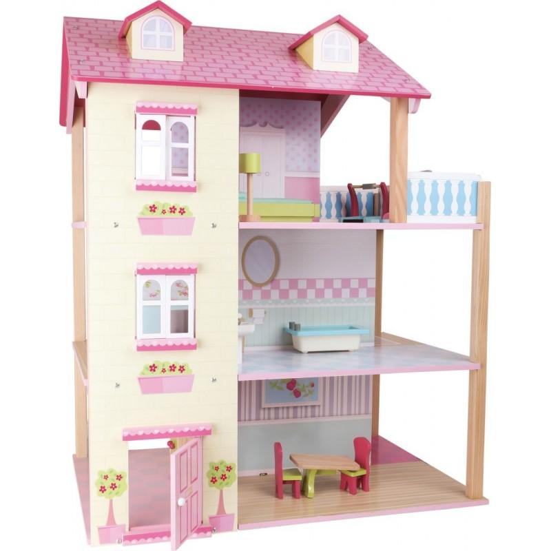 Maison de poupée en bois -3 étages et tournante-Poupées et peluches-Maisons de poupées en bois   BambinBois