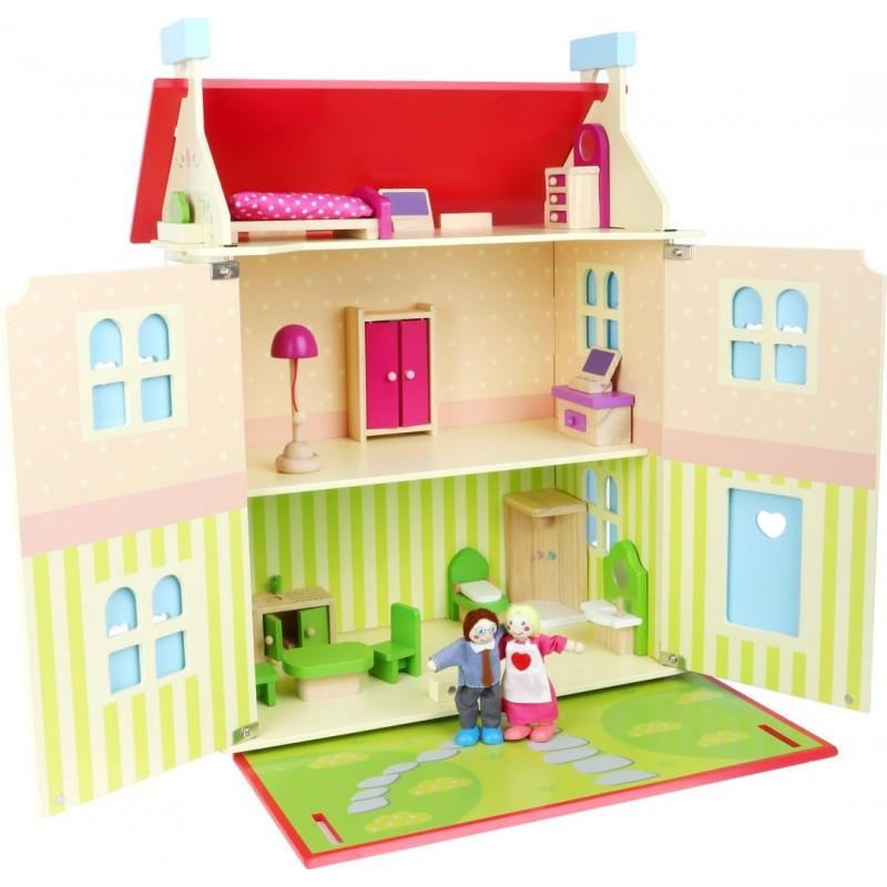 Maison de poupées - Toit amovible-Poupées et peluches-Maisons de poupées en bois | BambinBois