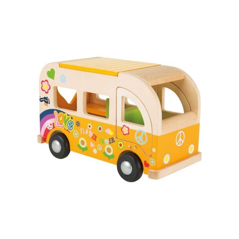 Bus de jeu en bois - Hippie-Véhicules et univers de jeu en bois   BambinBois