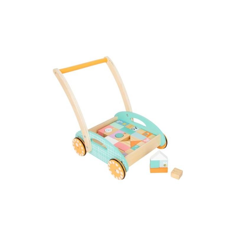 Chariot de marche - Pastel-Motricité et déplacement-Jouets de motricité en bois en bois | BambinBois