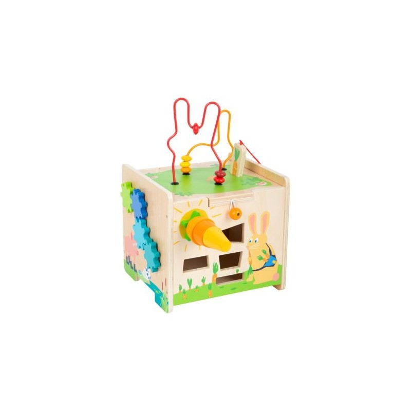 Cube de motricité en bois transformable en tabouret - Jeux eveil bois