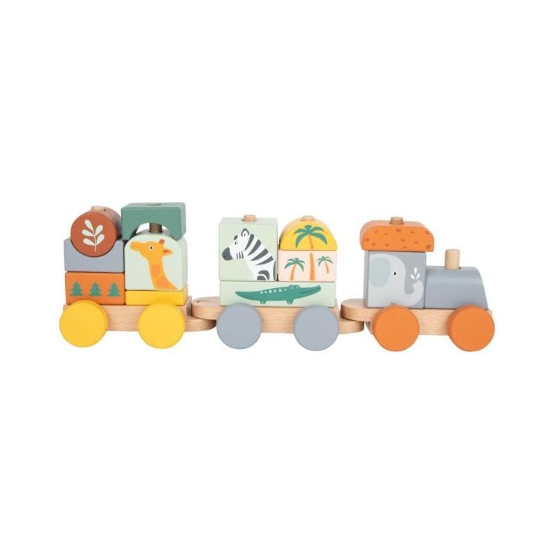 Train - Safari-Motricité et apprentissage-Puzzles en bois en bois | BambinBois