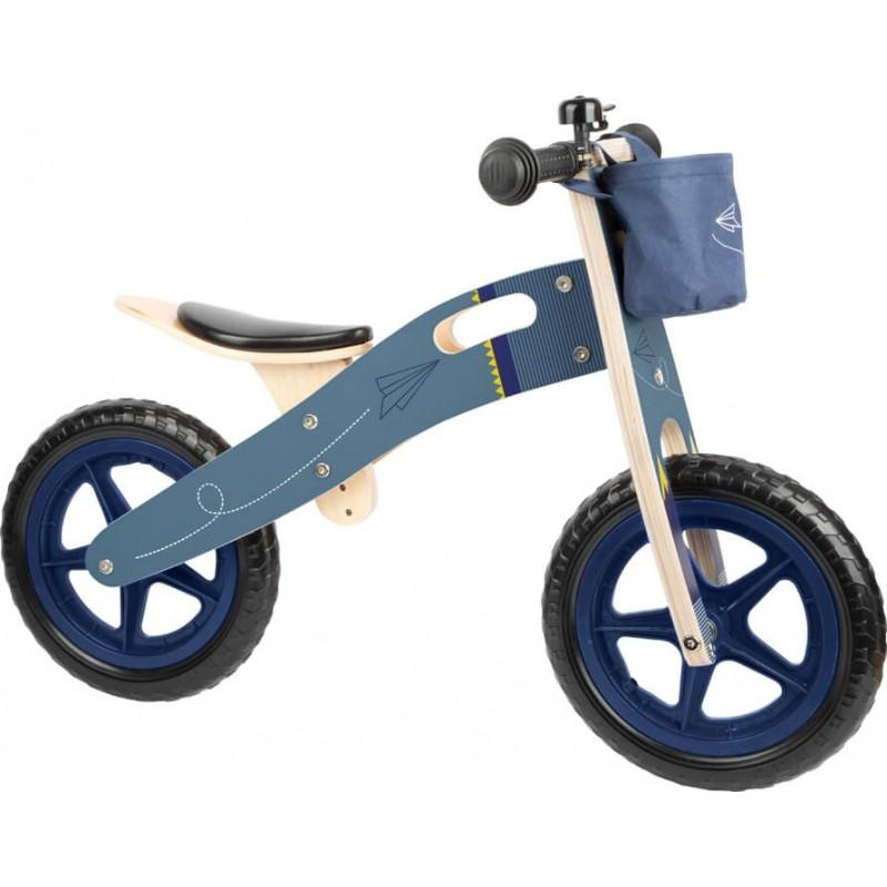 Draisienne en bois - Avion Bleu-Jouets de plein air et de mouvement-Jouets éducatifs en bois   BambinBois