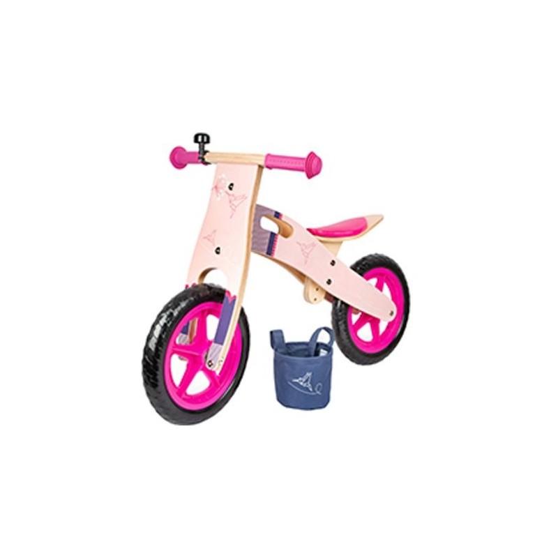 Draisienne en bois - Colibri rosé-Jouets de plein air et de mouvement-Puzzles en bois en bois | BambinBois