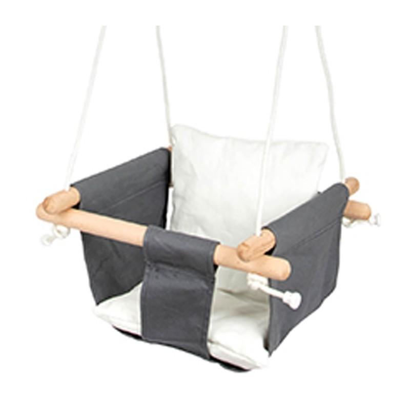 Balançoire pour bébé - confort-Jouets de plein air et de mouvement-Jouets à tirer et à pousser en bois | BambinBois