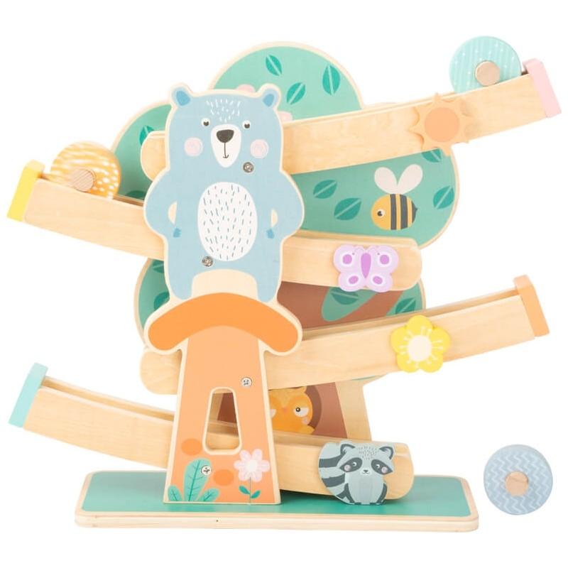 Circuit à boules - Pastel-Jeux-Jouets de motricité en bois en bois | BambinBois