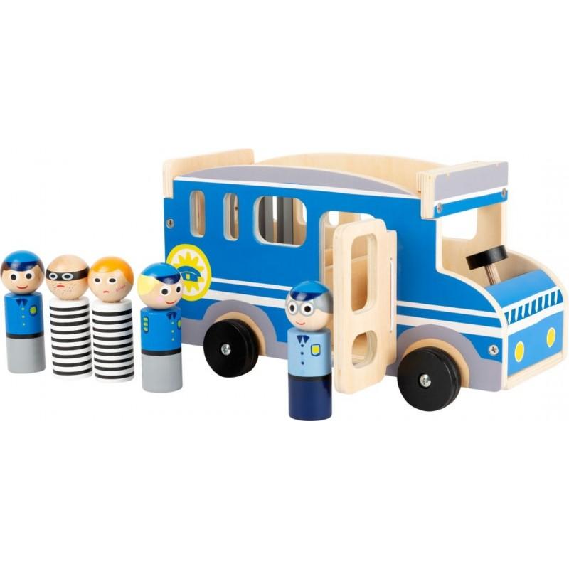 Minibus de police XL-Véhicules et univers de jeu-Jouets de motricité en bois en bois | BambinBois