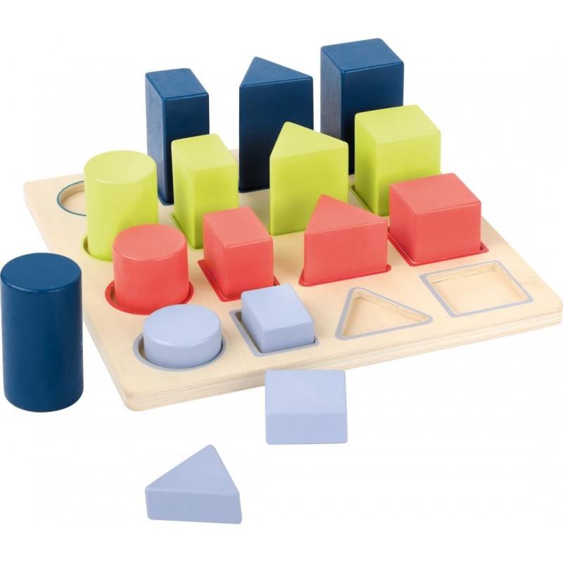 """Puzzle à encastrer Géométrie """"Educate""""-Jouets éducatifs-Jouets à marteler en bois   BambinBois"""