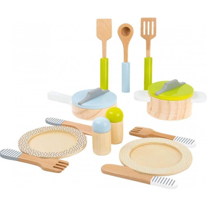 Service de table et lot de casseroles-Jeux de rôles-Jouets à marteler en bois   BambinBois