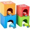 Cubes à empiler  - Voitures-Motricité et apprentissage-Jouets à encastrer en bois | BambinBois
