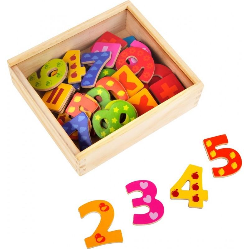 Chiffres magnétiques colorés-Motricité et apprentissage   BambinBois