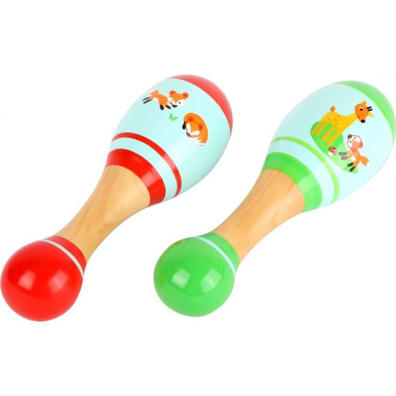 Maracas Petit renard-Musique et sons-Instruments de musique   BambinBois