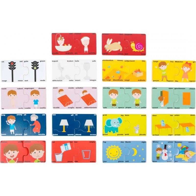 Puzzle éducatif - Les contraires-Motricité et apprentissage-Jouets éducatifs | BambinBois