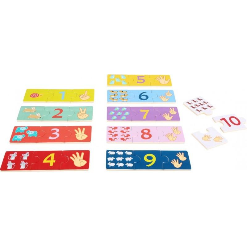 Puzzle éducatif - Compter-Motricité et apprentissage-Puzzles en bois | BambinBois
