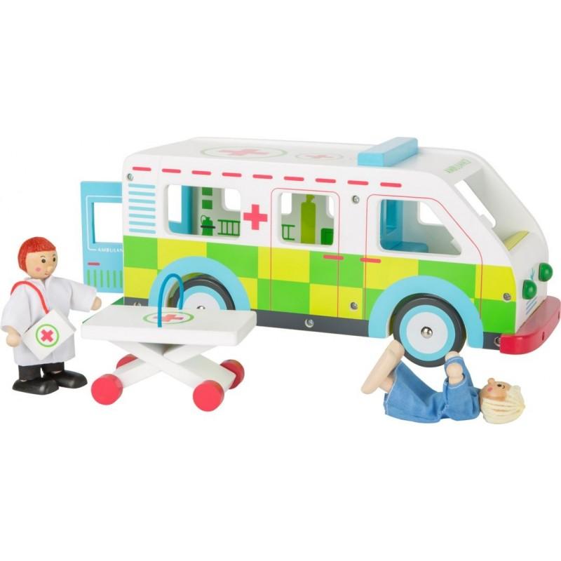 Petites voitures - Ambulance-Motricité et apprentissage | BambinBois