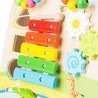 Chariot de marche Champs de fleurs-Jouets pour bébé-Chariots de marche en bois | BambinBois