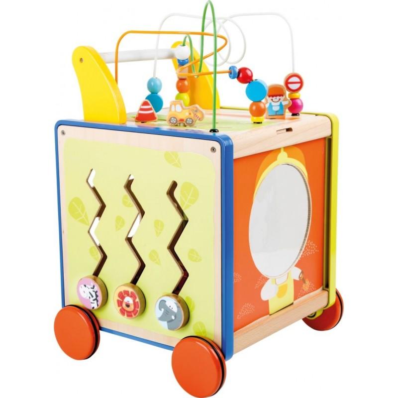 Chariot de marche Ma ville-Jouets pour bébé-Chariots de marche en bois | BambinBois