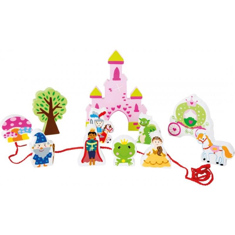 Univers de jeu à enfiler -Château de conte de fée-Motricité et apprentissage | BambinBois