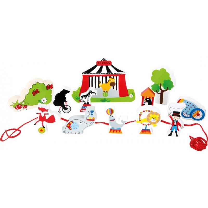 Univers de jeu à enfiler - Cirque-Motricité et apprentissage-Jeux à enfiler | BambinBois