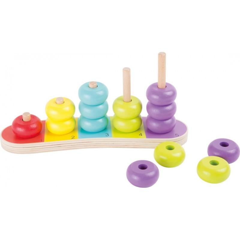 Planche de calcul -Disques multicolores-Motricité et apprentissage-Jouets éducatifs | BambinBois