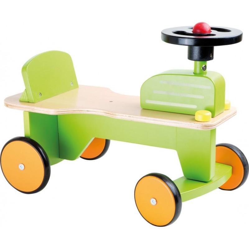Porteur bébé en bois - Mon premier tracteur-tricycle