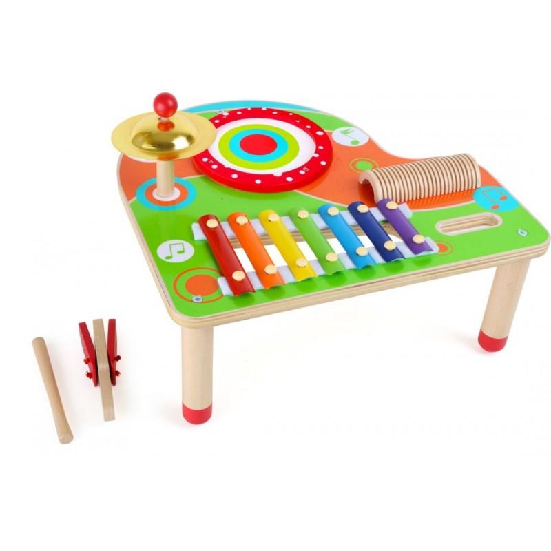 Table musicale en bois - Notes-Musique et sons-Instruments de musique | BambinBois