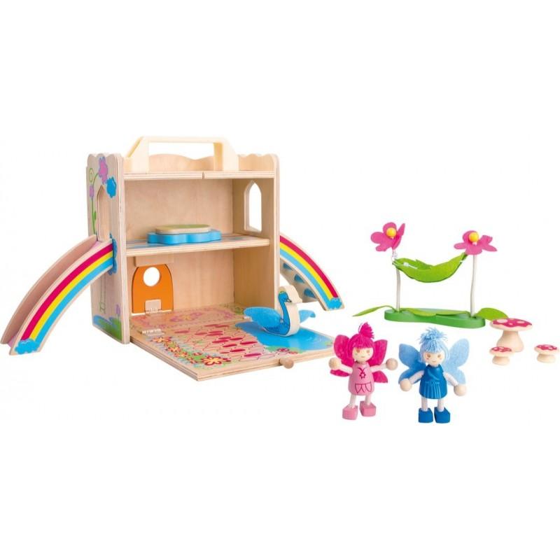 Maison de fées dans la valise-Véhicules et univers de jeu | BambinBois