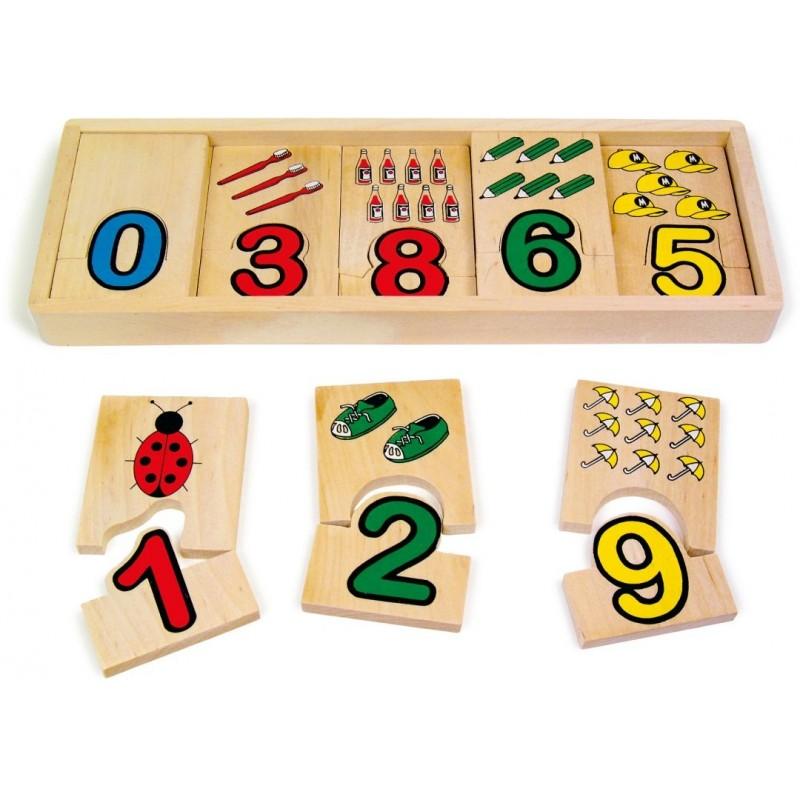 Apprentissage des chiffres-Jouets éducatifs-Puzzle en bois | BambinBois