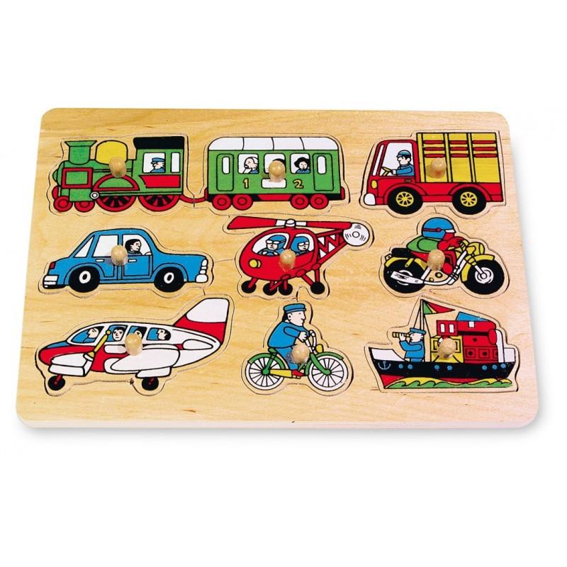 Puzzle en bois - Circulation-Motricité et apprentissage-Puzzles en bois | BambinBois