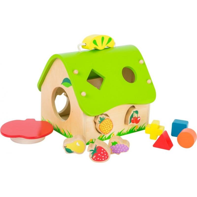 Maison à encastrer - Fruits-Motricité et apprentissage-Jouets à encastrer | BambinBois