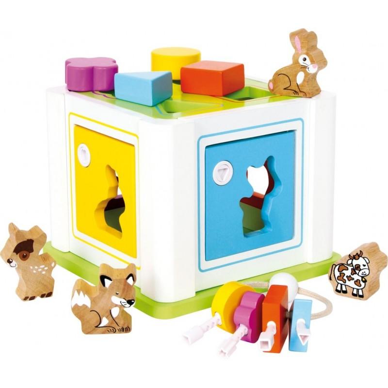 Boîte à encastrer - Animaux-Motricité et apprentissage-Jouets à encastrer | BambinBois