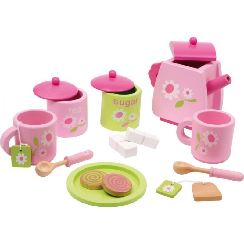 Service à thé pour enfants - Fleurs-Jeux de rôles-Pique-nique | BambinBois