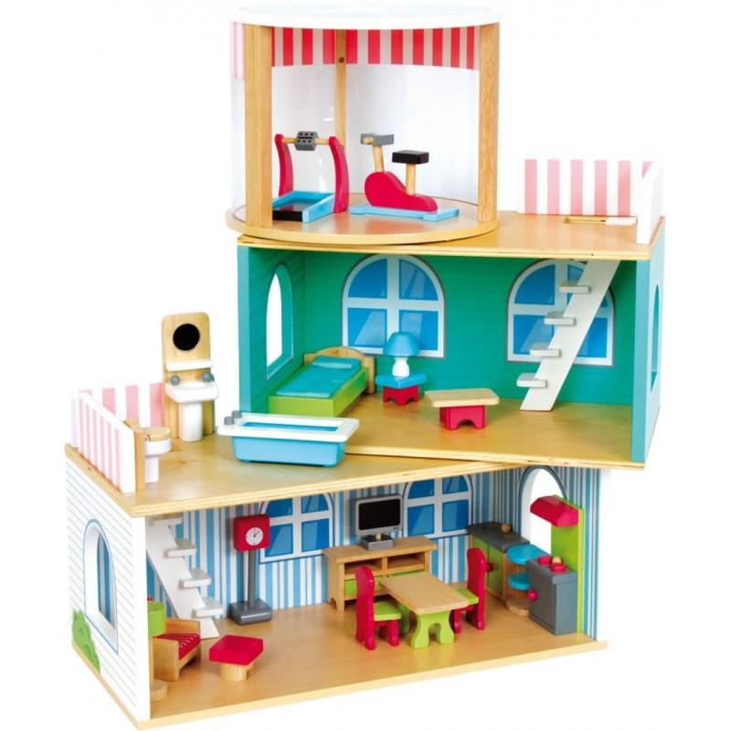 Maison de poupée - Variable-Poupées et peluches-Maisons de poupées en bois   BambinBois