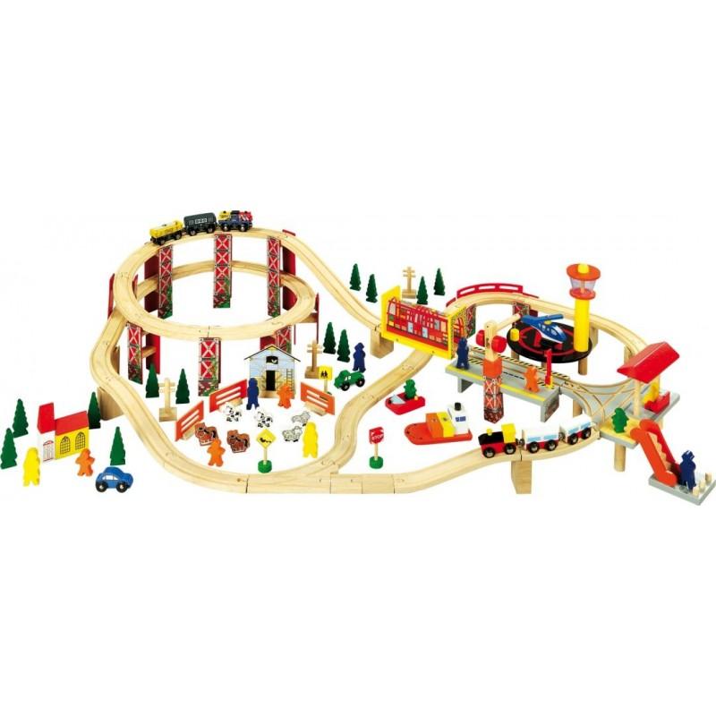Chemin de fer Zone industrielle-Véhicules et univers de jeu | BambinBois