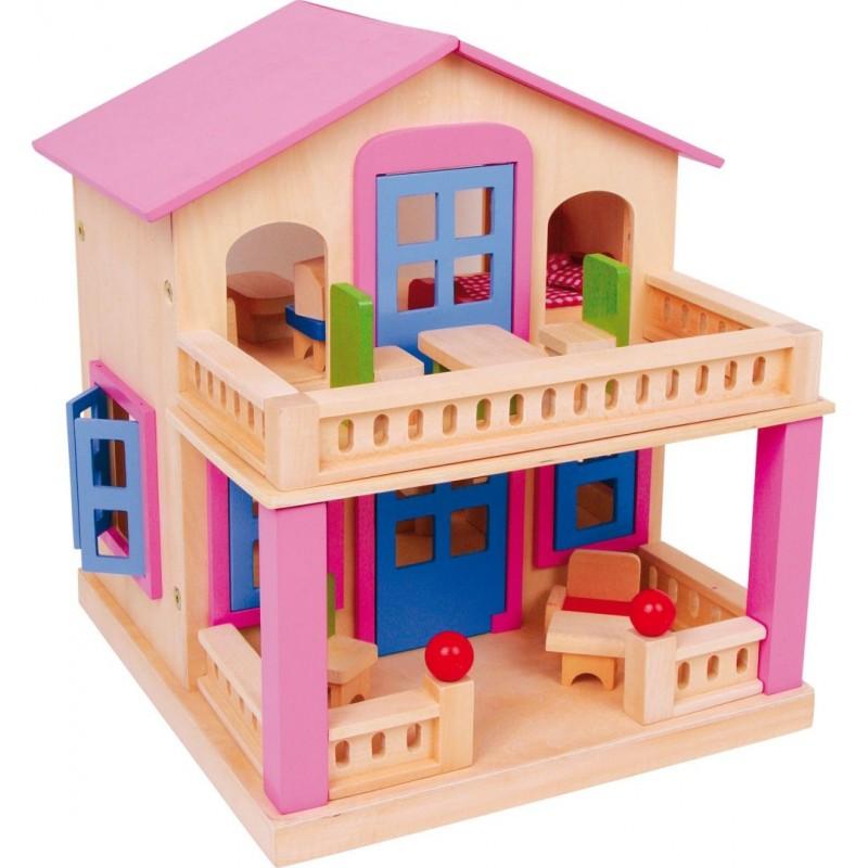 Maison de poupée Clara-Poupées et peluches | BambinBois