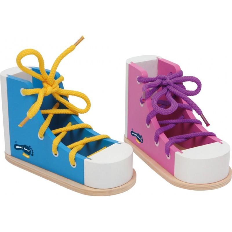Chaussures à lacer colorées-Motricité et apprentissage-Jeux éducatifs | BambinBois