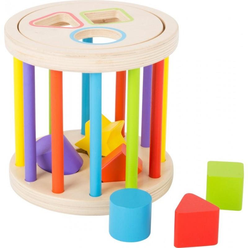Jouet de motricité - Formes et couleurs-Motricité et apprentissage-Jouets à encastrer | BambinBois