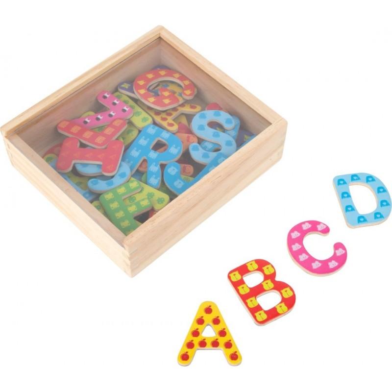 Lettres magnétiques colorées-Motricité et apprentissage   BambinBois
