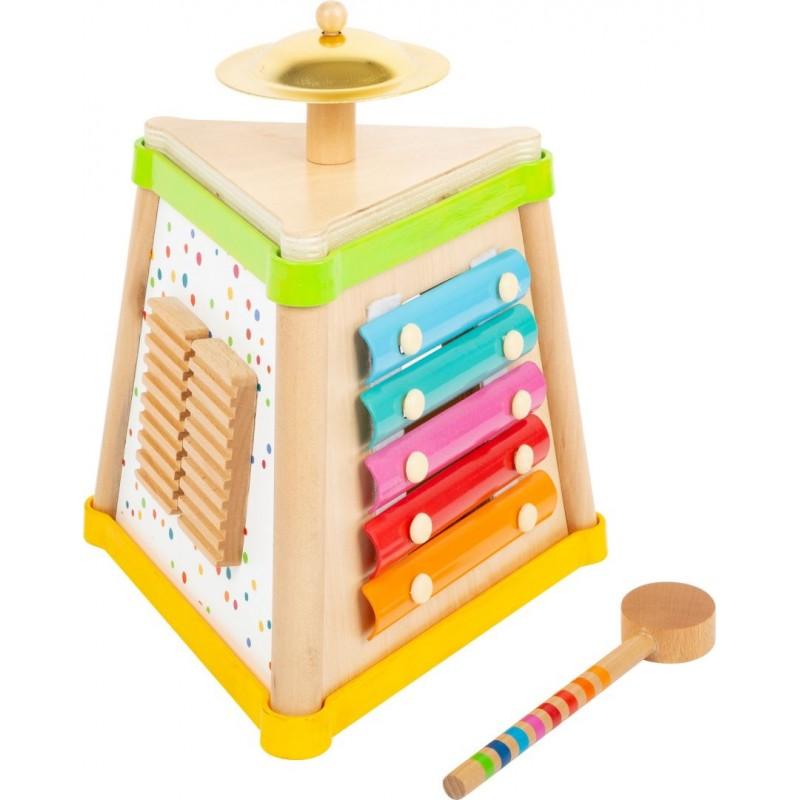 Cube musical  - Sound-Musique et sons-Jouets de motricité en bois en bois   BambinBois