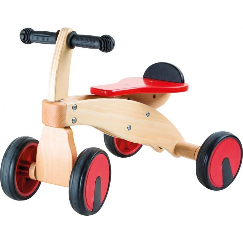 Tricycle Bolide rouge-Jouets de plein air et de mouvement en bois | BambinBois