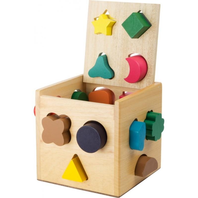 Cube à formes-Motricité et apprentissage-Jouets à encastrer en bois   BambinBois