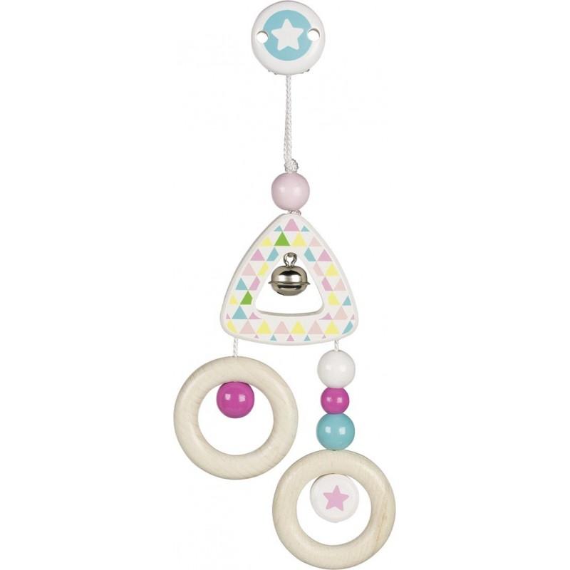 Mini-trapèze attachable - Etoile bleue Goki Heimess| Bambin Bois, jeux et jouets en bois