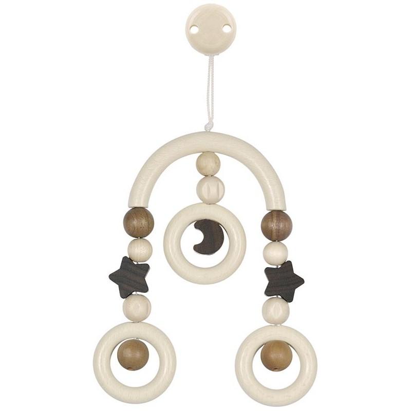 Mini-trapèze attachable - Lune et étoile Goki Heimess| Bambin Bois, jeux et jouets en bois