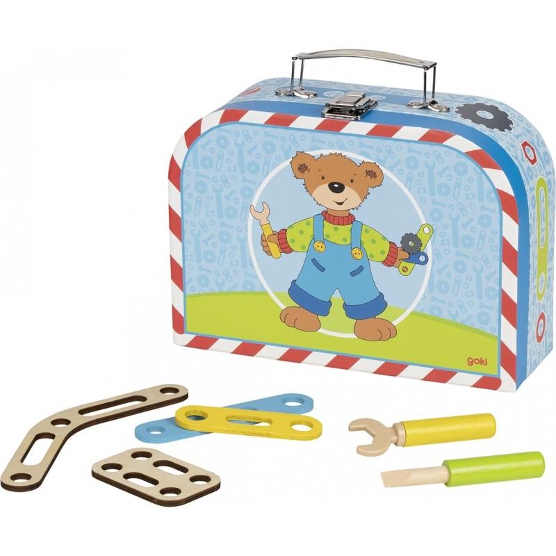 Kit de construction de véhicules en bois et sa valise | BambinBois