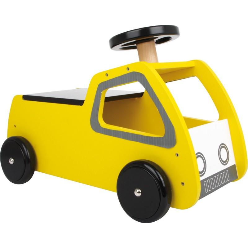 Porteur jaune en bois - Modèle voiture  - Small Foot - Premiers déplacements