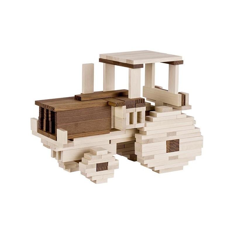 Jeu de construction en bois - 200 Pièces - Goki Nature - A partir de 3 ans