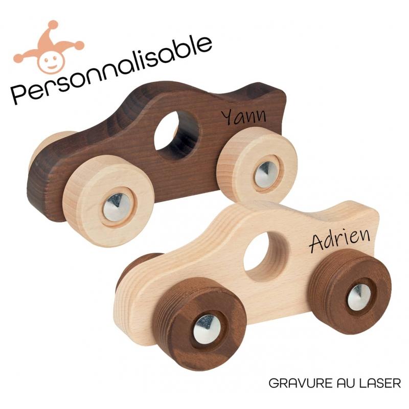 Voitures de course en bois personnalisable - Un cadeau personnalisé