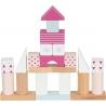 Jeu de construction Rose Framboise ☝️ 50 blocs - Jouet en bois fille